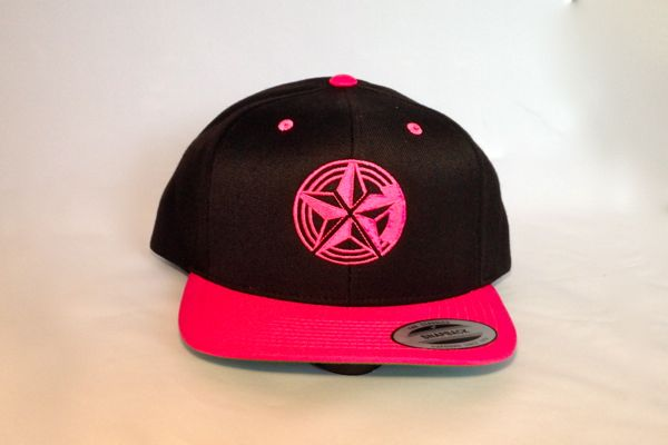 Bright Pink Snap Back Logo Cap