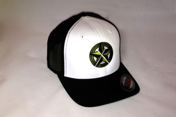CrawlTunes Black & White Flexfit Trucker Hat