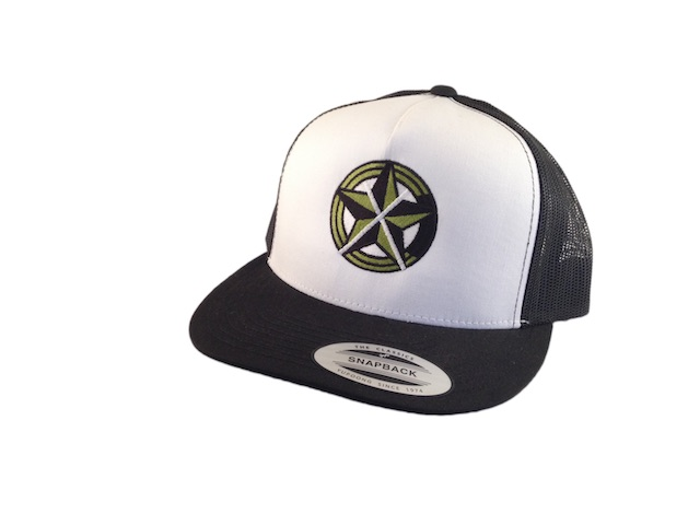 CrawlTunes Black & White Snap Back Trucker Hat