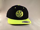 Fluorescent Yellow Snap Back Logo Cap